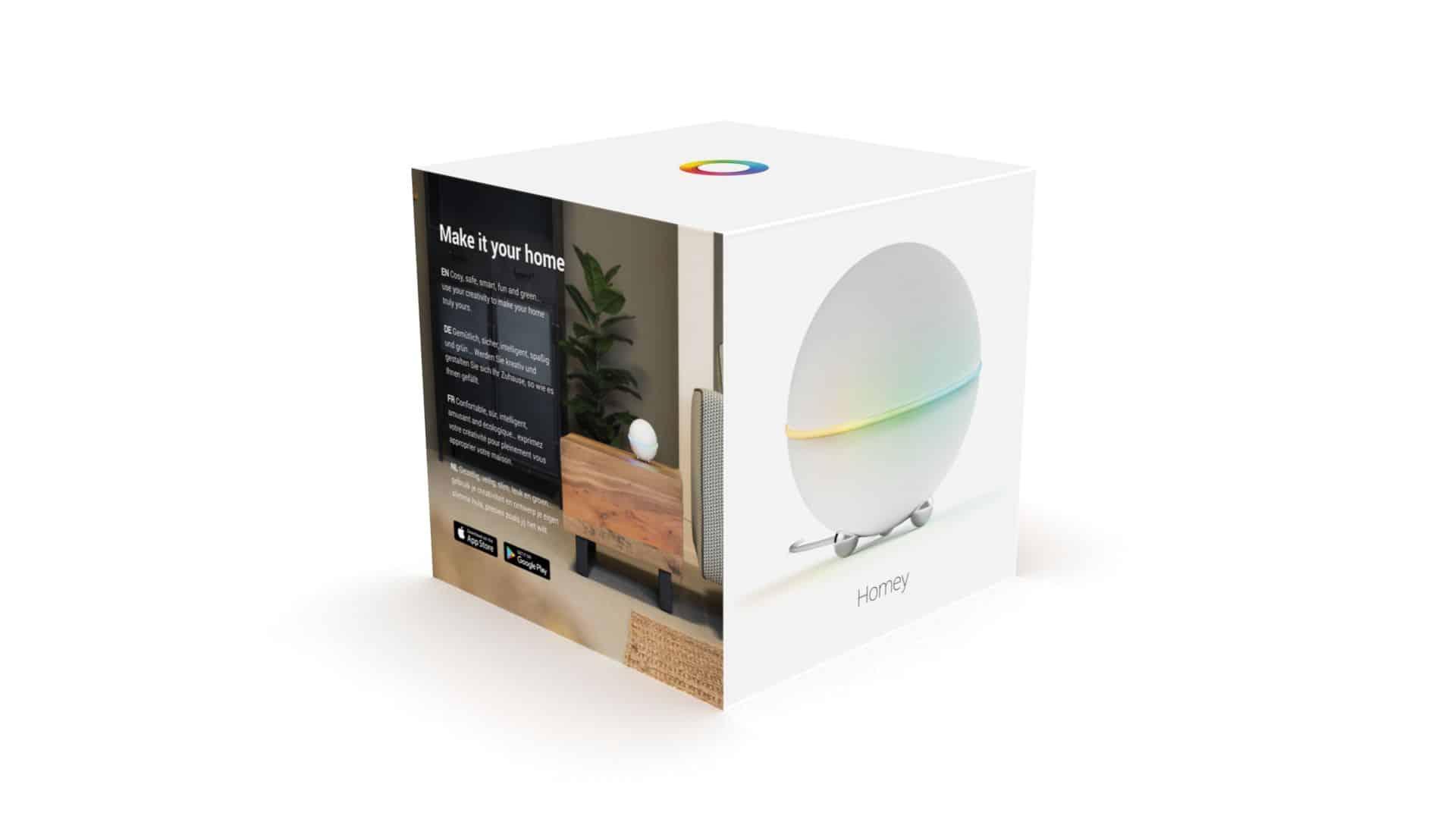 La box Homey a un look très Google, vous ne trouvez pas ?