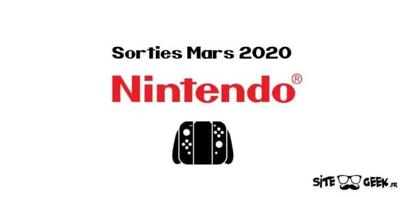 Toutes les sorties Nintendo Switch en versions physiques disponibles sur les boutiques en ligne pour le mois de mars 2020 #Sorties #switch #bonplan