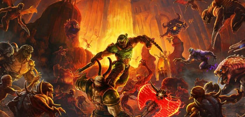 Le héros de Doom Eternal en action