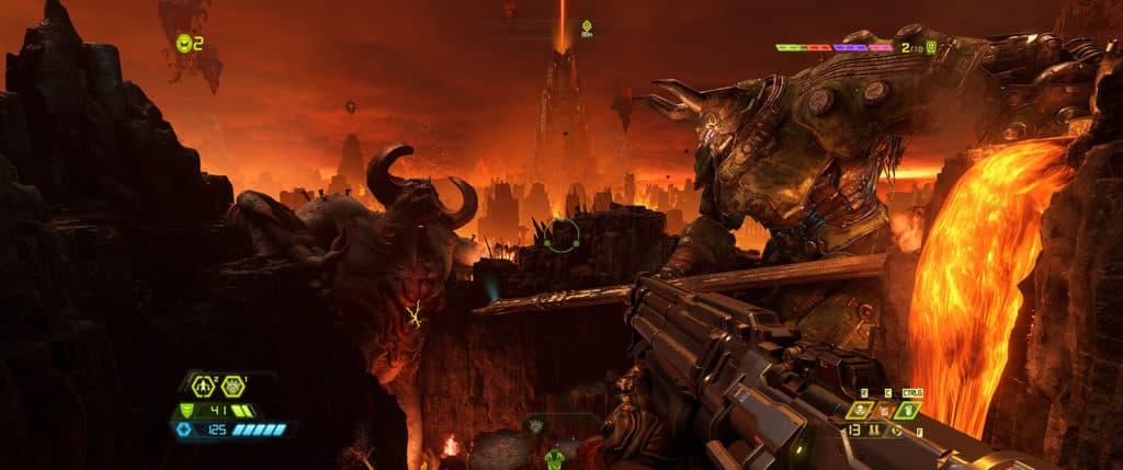 Un des magnifiques décors de Doom Eternal