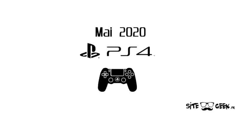 PS4 Sorties mai 2020