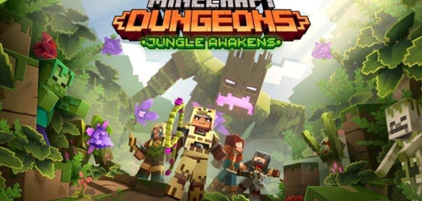 Minecraft Dungeons jungle awakens annonce DLC