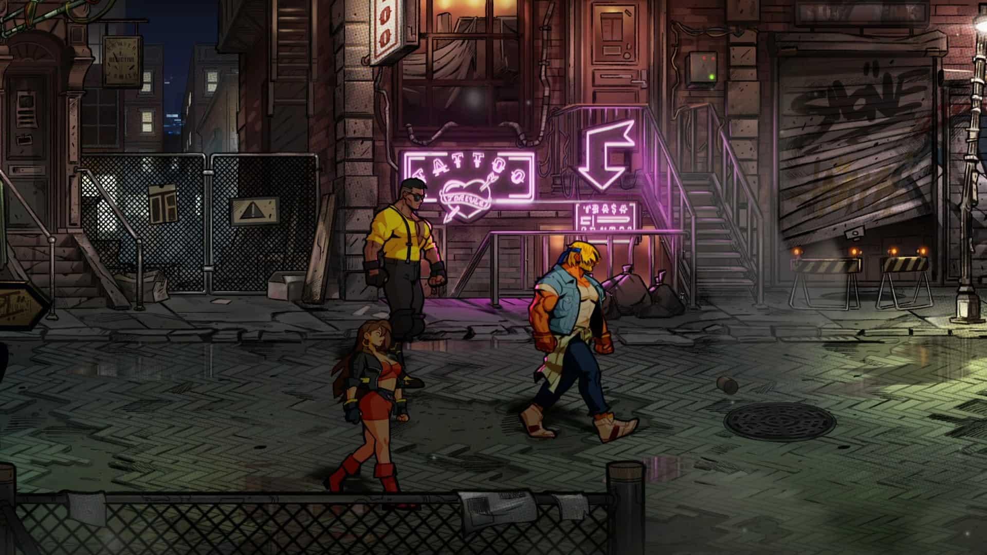 Le roster de base de Streets of Rage