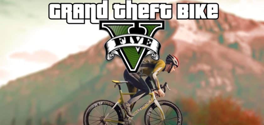 GTA V mod Grand Theft Bike V Bicycle training