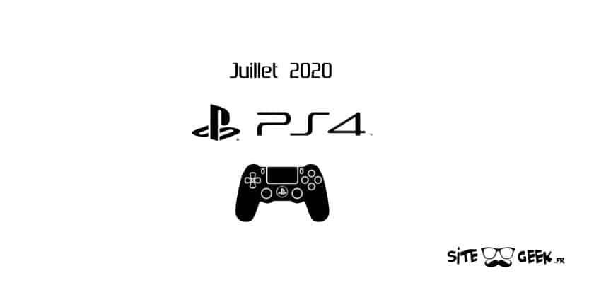 PS4 Sorties juillet 2020