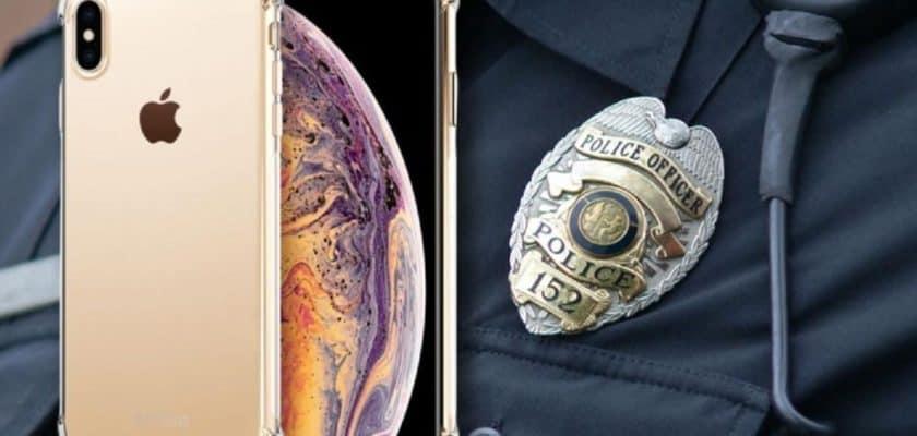Siri app assistant contrôle police