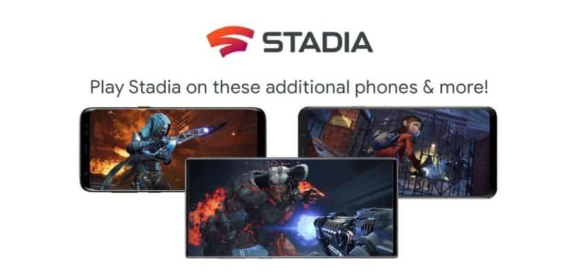 google stadia nouveautés smartphones