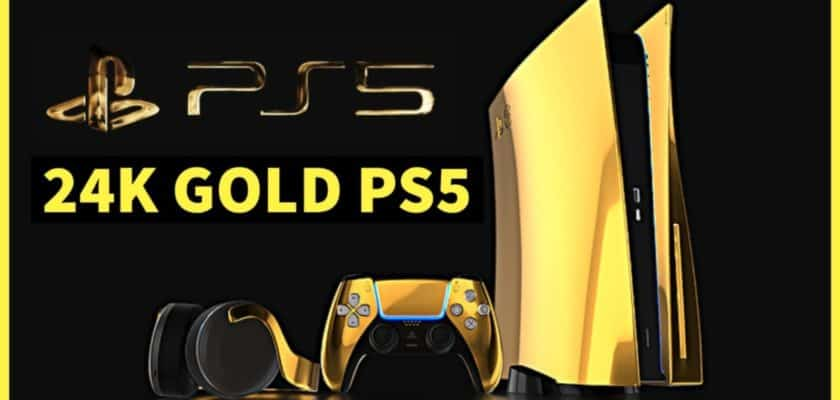 PS5 en or version 24 carats