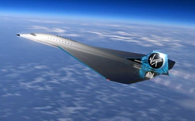 Virgin galactic avion supersonique