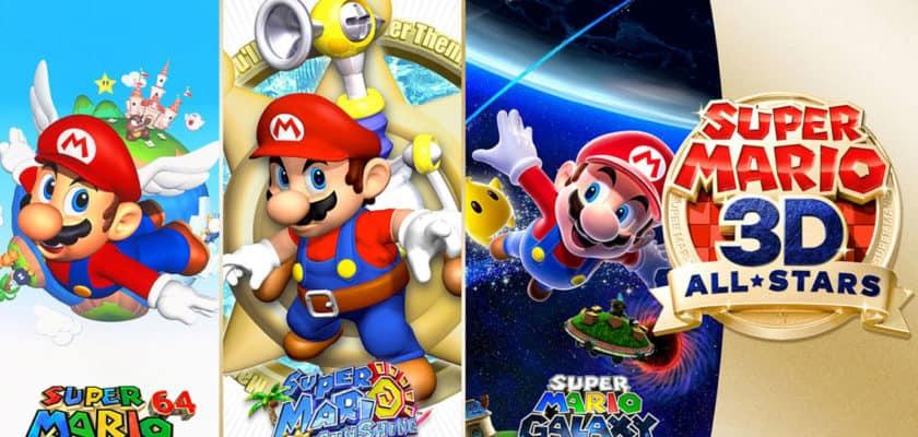 Le visuel officiel de Super Mario 3D All Stars