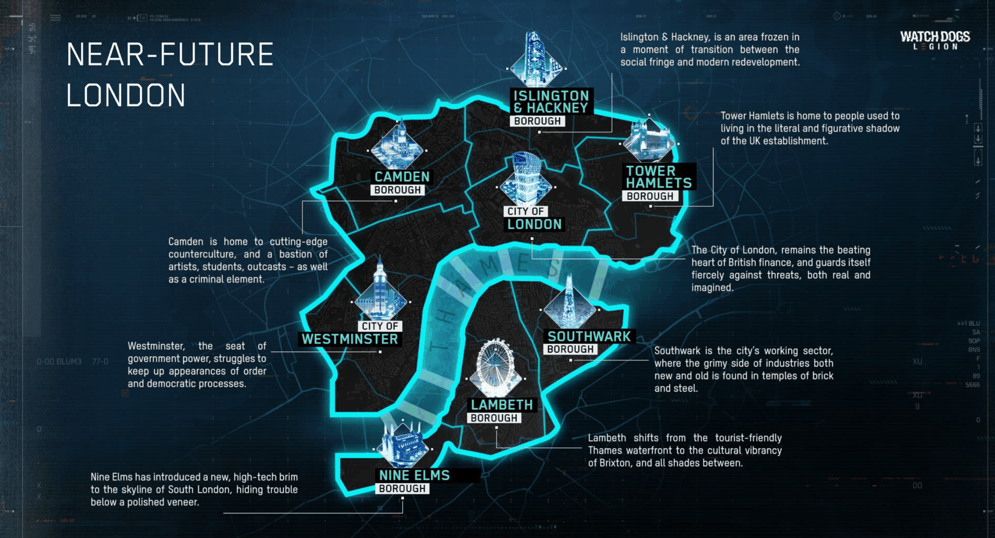 La carte de Watch Dogs Legion