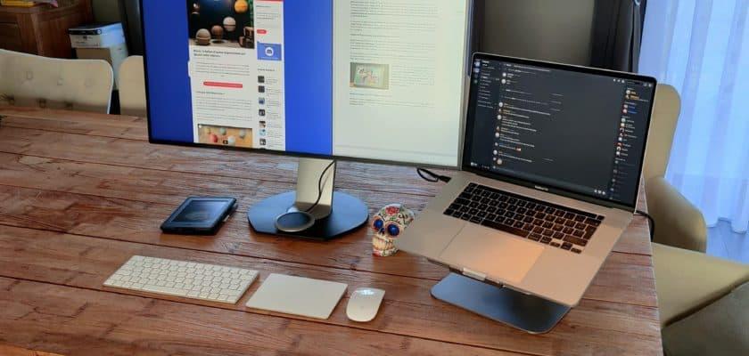 Avec quelques accessoires, mon Macbook devient un véritable ordinateur de bureau
