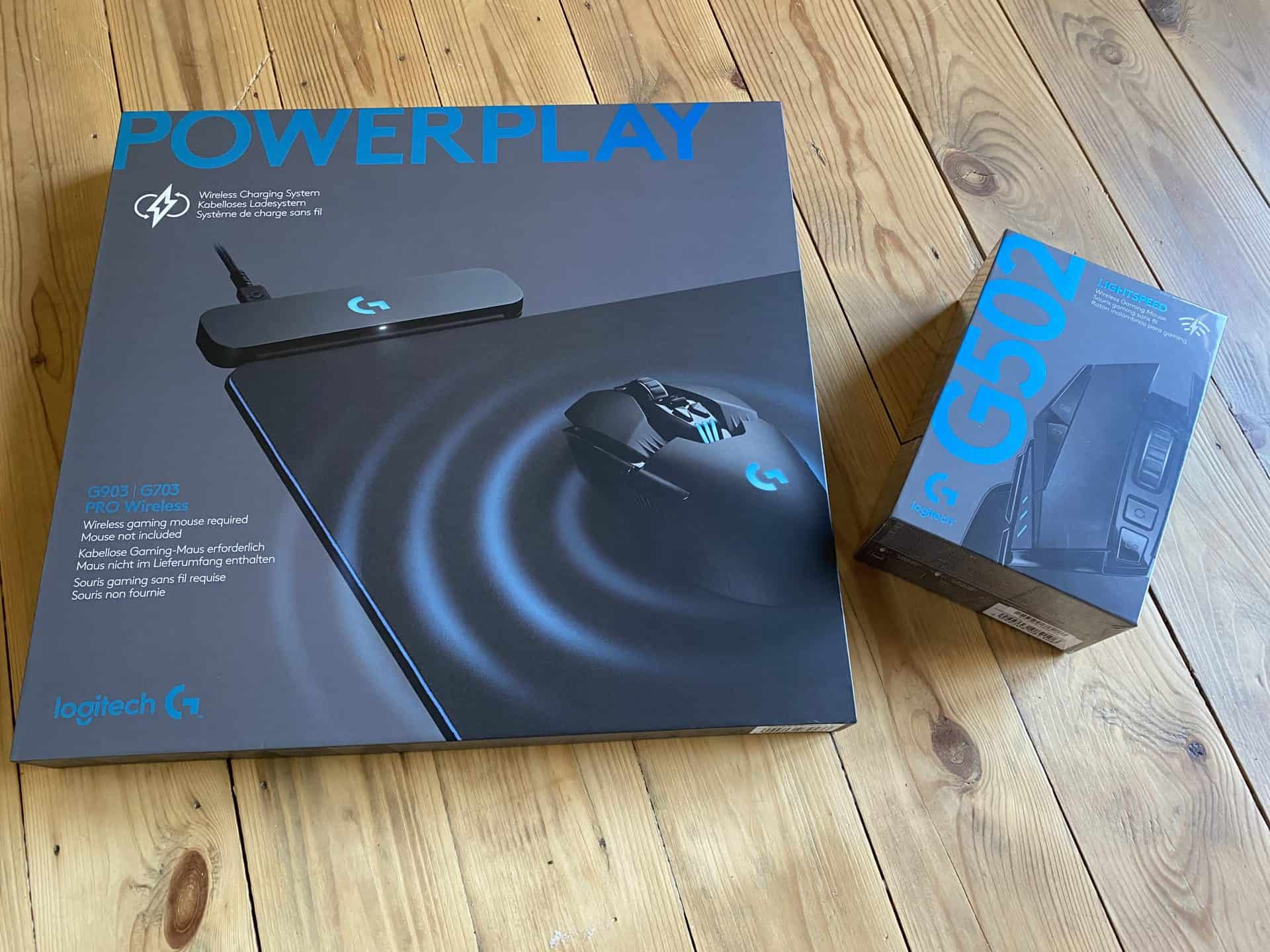Le packaging du Logitech Powerplay