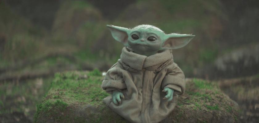 Grogu que l'on surnomme bébé yoda dans The mandalorian