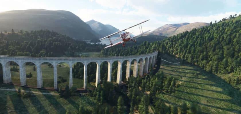 Une image du gameplay de Microsoft Flight Simulator