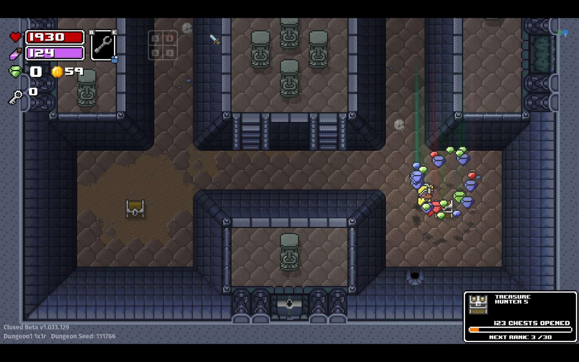 Les gemmes dans Rogue Heroes Ruins of Tsasos