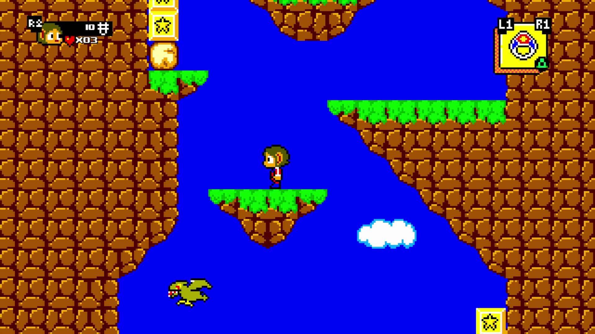 Le 1er stage d'Alex Kidd version 8-bits