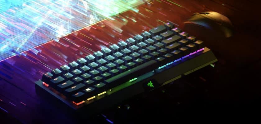 Le visuel officiel du Razer BlackWidow V3 Mini Hyperspeed