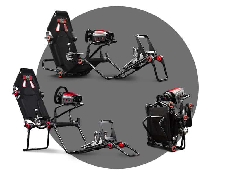 Les différentes positions que peuvent adopter le F-GT Lite